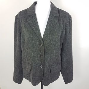 Chico's Blazer Button Front Lined Jacket